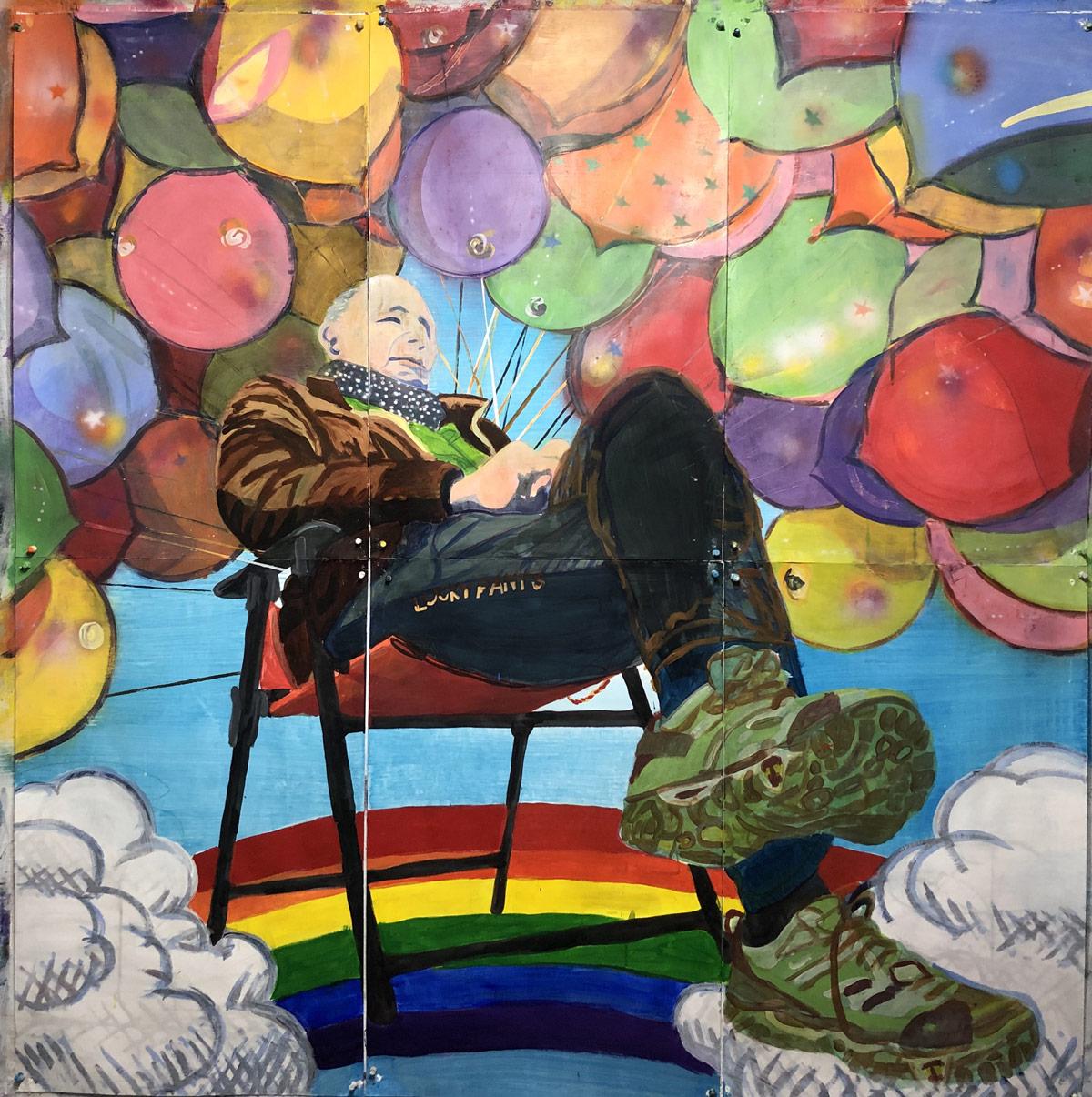 Ansel-Ballon-boy-acrylic-on-paper-70.5×76