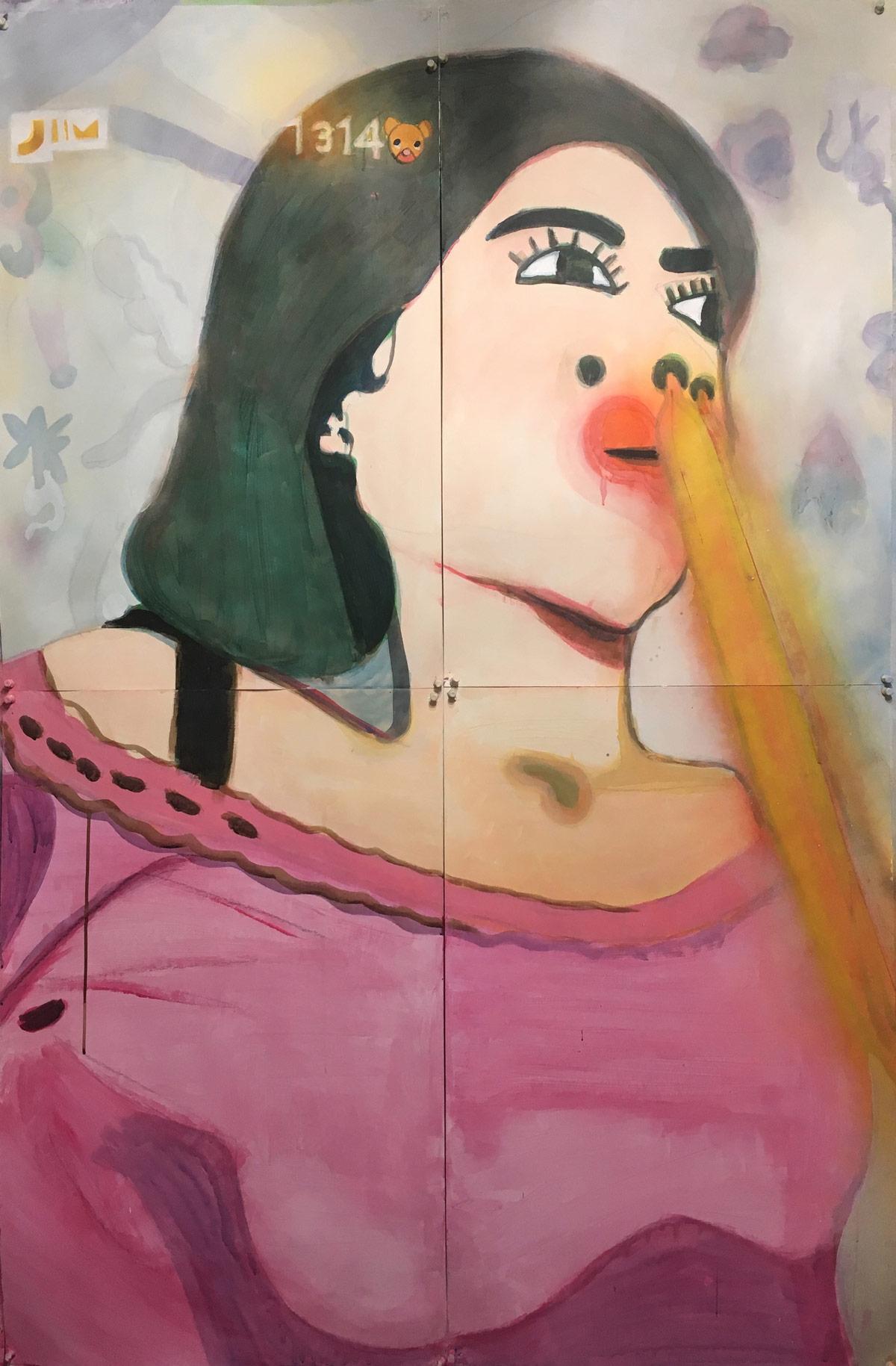 Japanes-Pranks-2017-acrylic-on-paper-47-x-76