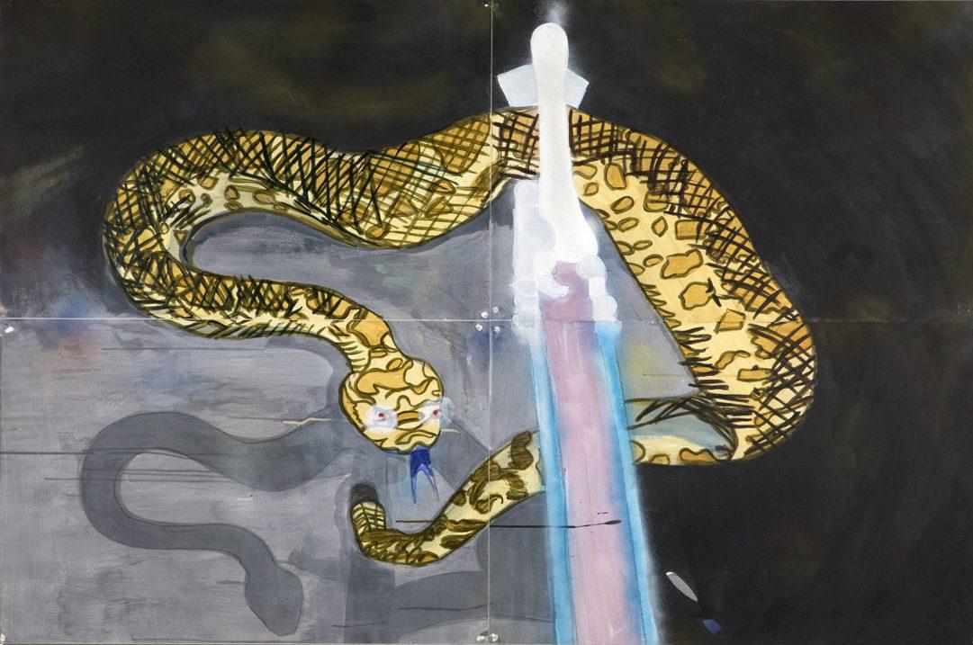 MR-Snake-Wrangler-2018-acrylic-on-canvas-47-x-76